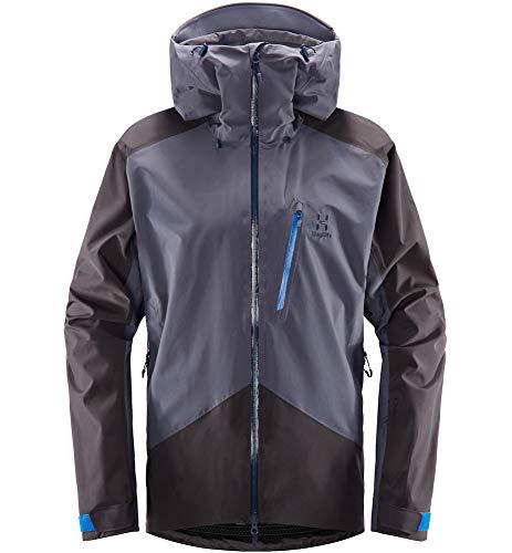 Haglöfs Skijacke Herren Skijacke Niva Wasserdicht, Winddicht, Atmungsaktiv Dense Blue/Slate L L