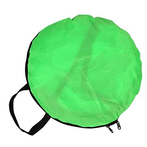 Rosilesi Vela de Kayak, 3 Colores 108cm Tabla de Remo Plegable para Kayak de Viento con Ventana Transparente y Bolsa de Almacenamiento(Verde)