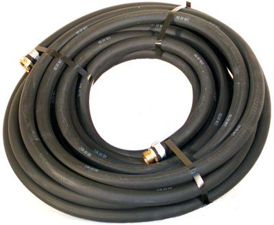 """Water Hose Continental ContiTech ¾"""" x 50' BLACK RUBBER - Industrial Grade - US Made"""