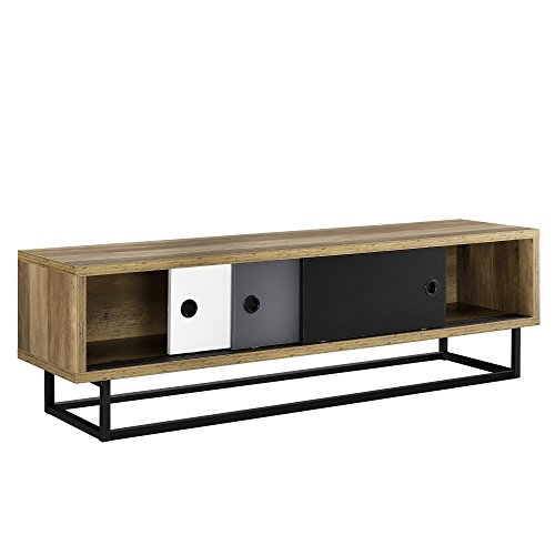 [en.casa]®] Lowboard con Puertas corredizas - Mesa de Tele - cómoda - Armario TV - 140cm x 35cm x 41cm