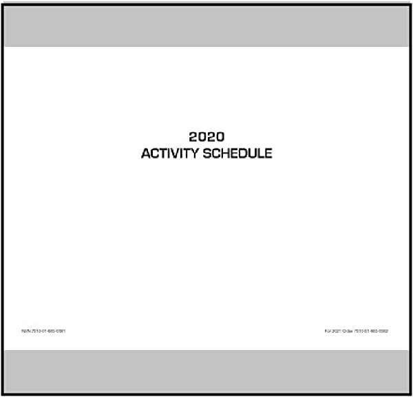 Unicor 2020 Fed Activity Schedule Qty 1 Single Schedule Not Pack Of 10