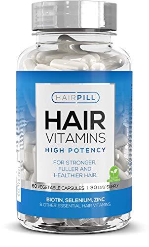 Hair Pill - UK's number 1 Hair Loss Solution, Biotin, Hair Regrowth, High Potency, 5000 mcg, Hair Volume, Hair Growth Vitamins For Men, Hair Growth, Hair Loss Treatment for Man