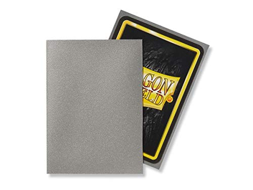 Dragon Shield 100 Count Standard Size Matte Deck Protector Sleeves (Matte Silver)