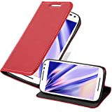 Cadorabo Funda Libro para Motorola Moto G3 en Rojo Manzana - Cubierta Proteccíon con Cierre Magnético, Tarjetero y Función de Suporte - Etui Case Cover Carcasa