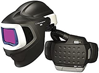 3M 37-1101-30SW Adflo Belt-Mounted Universal Lithium Ion High Efficiency PAPR System with Speedglas 9100 MP Welding Helmet, 5, 8-13 Shade 2.8'' x 4.2'' Speedglas, 15.34 fl. oz, 1