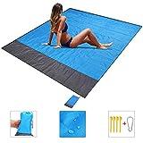 Beach Blanket, Picnic Blanket, Sand Free Beach Mat Waterproof Lightweight 79 x 83Inch