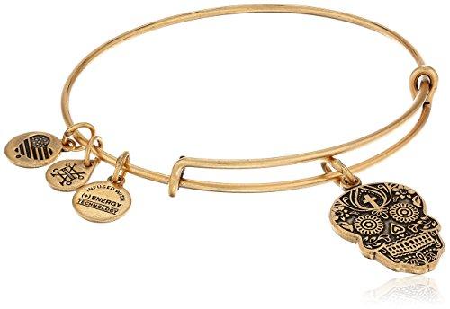 Alex and Ani Calavera Rafaelian Gold Bangle Bracelet
