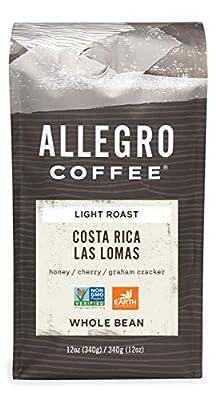 Allegro Coffee Costa Rica Las Lomas, Whole Bean, 12 Oz