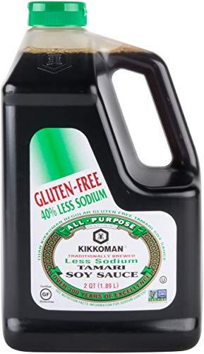 Kikkoman Less Sodium Gluten Free Tamari Soy Sauce .5 Gallon Container