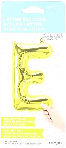 40 cm Air Remplissez Lettre E Ballon de feuille d'or (vendu non gonflé)