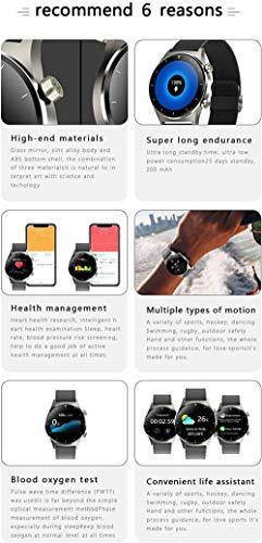 Smartwatch ritmo cardíaco oxígeno de sangre Bluetooth teléfono música cardiovascular reloj inteligente para mujeres y hombres-E