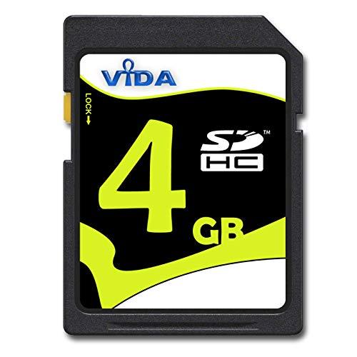 Vida IT Tarjeta de memoria SDHC de 4 GB para cámara digital y dispositivos SDHC compatibles, memoria flash de grado A de alta velocidad, clase 10