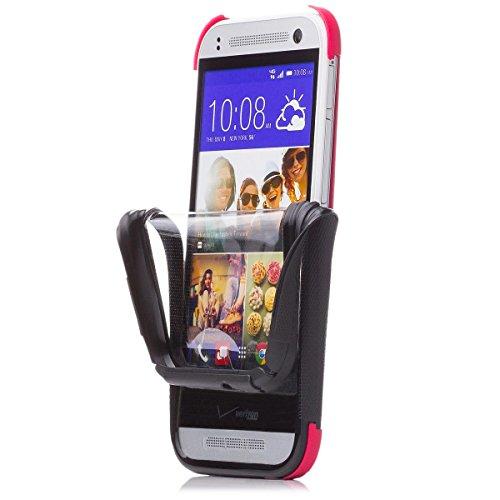 iCues HTC One Mini 2 - M8 Mini |  2 Part Touch Hülle Pink | Outdoor Dickes Hardcase Stoßfest Militär Lifeproof Männer Jungs 360 Grad Bildschirm Full Body R&um beidseitig Komplett vorne hinten double Front Schutzhülle Hülle Cover Schutz