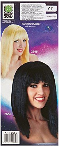 Carnival 02565 – Perruque de cheveux lisse et blonde avec frange