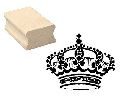 Stempel KRONE - Motivstempel aus Buchenholz