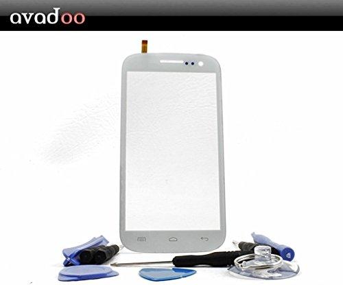 avadoo® Mobistel Cynus T5 Displayglas Touchscreen Weiß Reparaturglas Touch Screen Display Glas für Mobistel T5 in Weiß inklusive Werkzeugset und Beschreibung !!!