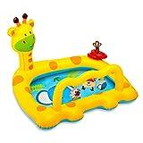 Ablerfly Aufblasbares Planschbecken Kinder, Giraffe Aufblasbare Pools, Rectangular Pool Play Center Planschbecken - Kinder Aufstellpool, Baby Pool Planschbecken Für Outdoor Garten-112×91×72 cm