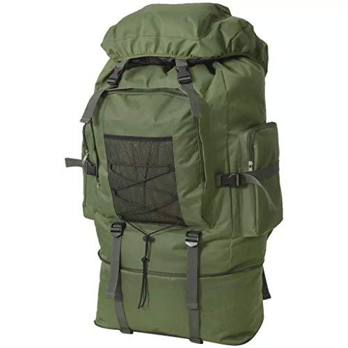 VidaXL Mochila Militar XXL 100 Verde
