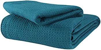 Glamburg 100% Cotton King Thermal Blanket (Teal)
