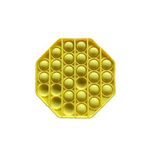 Pandiui23 Juguete Antiestrés Sensorial Juego Explotar Burbujas Autismo Ansiedad Fidget Niños Necesidades Especiales Relajante Adultos Original Divertido Push Pop Pop Bubble Game (Girasol)