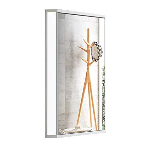 Spiegelschränke Bad Home eckspiegelschrank Bad dreieckspiegelschrank wandspiegelschrank mit licht (Color : White (with Light), Size : 47 * 70 * 33cm)