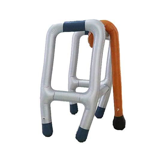 Aufblasbare Gehhilfe Gehgestell Gehstock Wanderstock Spazierstock Zimmer Rahmen Spielzeug Party Gadget Rollator Set