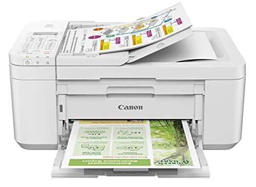 Impresora Multifuncional Canon PIXMA TR4651 Blanca WiFi de inyección de Tinta con Fax y ADF