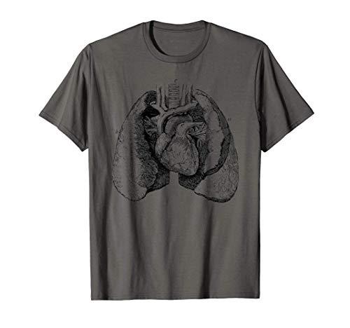 Corazón humano pulmones anatomía médica corazón anatómico Camiseta