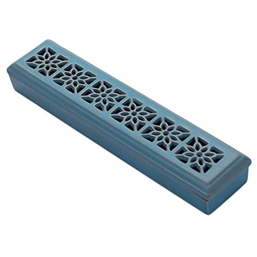 Ceramics Coffin Incense Burner Holder Box for Incense Sticks and Cones...