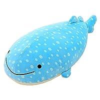ぬいぐるみ、非常に柔らかい青いクジラのシャークビッグピローぬいぐるみ人形フィッシュペンチおもちゃのぬいぐるみ動物23.6インチ(クジラ、35.4インチ)