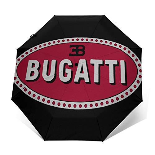 Paraguas plegables Tous Les Marque Voiture Paraguas de viaje plegables paraguas duradero a prueba de viento a prueba de viento ligero impermeable de impresión de moda