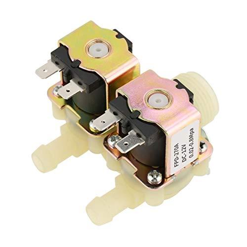 LXH-SH Das elektromagnetische Ventil DN20 / 4 DC Dual-Elektro-Wassereinlassmagnetventil Normalerweise for Waschmaschine 0-40 Grad-Temperatur Industriebedarf