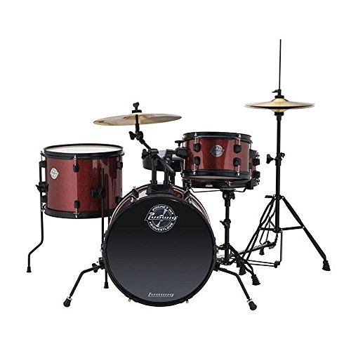 Ludwig LC178X025 Questlove Pocket Kit 4-piece Drum Set-Red Wine...