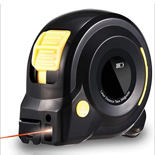ZXIN Telémetro Infrarrojo 3 En 1 De 40 M De 5 M con Pantalla LCD Medidor De Distancia Digital De Mano con Anuncio De Voz
