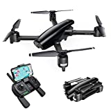 SNAPTAIN SP550 Foldable GPS Drone with 2K Camera, 5Ghz WiFi FPV RC Quadcopter for Adults w/ 90° Adjustable Camera, GPS Auto Return Home, Follow Me, Point of Interest, Way Points, Gesture Control
