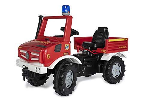Rolly Toys 038220 rollyUnimog FIRE Edition 2020 (Kinderunimog, Tretfahrzeug) - inkl. RollyFlashlight, Sitz verstellbar, Flüsterlaufreifen