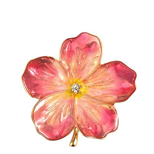 Lucky Roze Emaille Bloem Broches Vrouwelijke Hijab Pin Corsage Broche voor Vrouwen Bruidsjurk Badge Accessoires