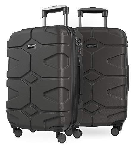 HAUPTSTADTKOFFER - X-Kölln - 2er Koffer-Set Handgepäck Trolley-Set Rollkoffer Reisekoffer, TSA, (S & S), Graphite matt