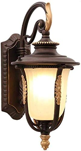 Sconce Wandlamp Vintage Stijl Wandlamp Outdoor Waterdichte Wandlamp Roest en Corrosiebestendig Metalen Lamp Lichaam Glas Lampenkap, Koffie, Een Indoor Verlichting Wandlampen