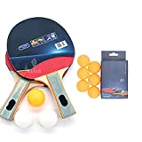 New Sport Item Table Tennis Racquet ,Table Tennis Racket Red, Black Table Tennis Racquet Table Tennis Set Only for Kids (2 Pcs of Racket, 6 Ball Heavy Quality 3 Ball Average Quality ,250 Gram)