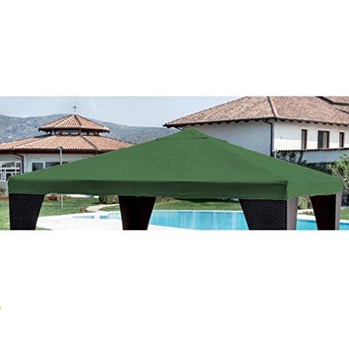 TELO TOP COPERTURA RICAMBIO MT 3X3 CM 300X300 VERDE GAZEBO CON AIRVENT AIR VENT