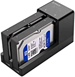 ORICO USB 3.0 to SATA Dual Bay External Hard Drive Docking Station Enclosure for 2.5 or 3.5 in HDD SSD with Offline Clone/Duplicator Function [ 20TB Support ]