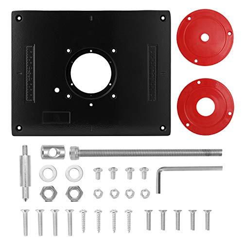 KKmoon Piastra da Tavolo per Fresatrice Piastra per Fresatrice, Precisione Alluminio Piastra di Inserimento della Tavola del Router