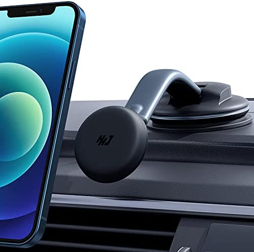 Magnetic Phone Holder for Car [Super Strong Suction Cup] Dashboard Windshield Car Phone Mount, 360 Degree Rotation Compatible with All Mobile Phones