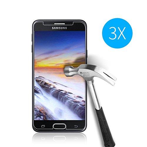 Cardana | 3X bruchsicheres Schutzglas für Samsung Galaxy J5 2017 / J5 2017 Duos | Schutzfolie aus 9H Echt Glas | angenehme Handhabung| Schutzglas zum Schutz vor Displayschäden |