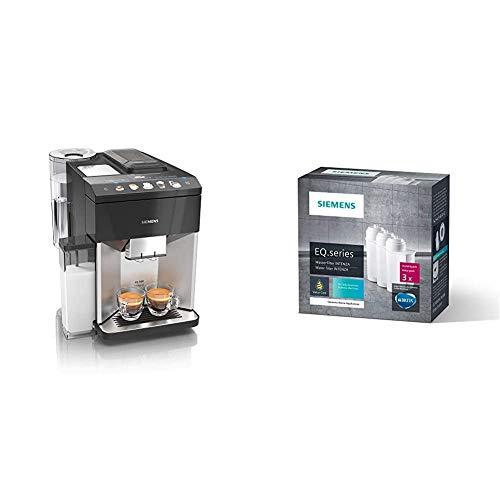 Siemens EQ.500 integral Kaffeevollautomat TQ507D03, 1.500 Watt, edelstahl & TZ70033 Brita Intenza Wasserfilter, reduziert Kalkgehalt im Wasser, für EQ.Serie und Einbauvollautomaten, 3 Stück, weiß