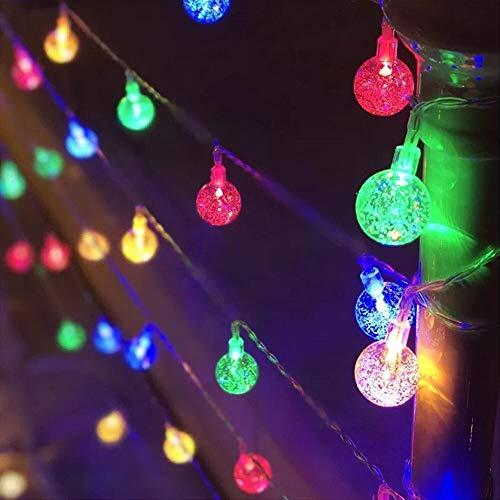 LED Crystal Ball Garland Light String Flashlight Indoor Holiday Light LED Fairy Light Battery/USB String Light Battery Multicolor 6m60 LEDs