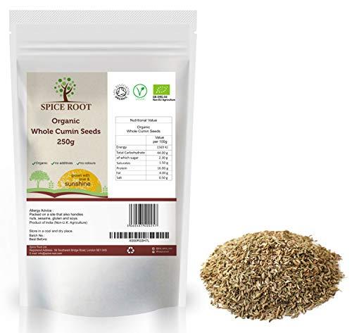 Semi di cumino biologico 250g (Bio Cumino, Bio Cumin Seeds) - Certificato biologico, Qualità premium | Gusto e aroma eccellenti | Vegano