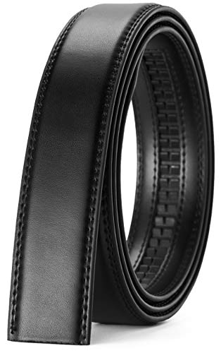 "CHAOREN Ratchet Belt Strap Only 1 1/8"", Replacement Leather Belt 1.25"" without Buckle"