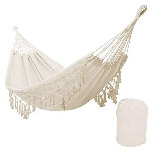 NMDD Hamaca Blanca al Aire Libre, Interior, jardín, Dormitorio, Dormitorio, Silla Colgante para niño, Adulto, Columpio Individual